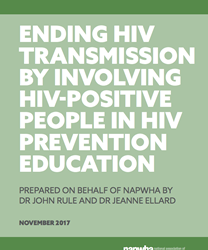 Ending HIV transmission by involving HIV-positive people in HIV prevention education
