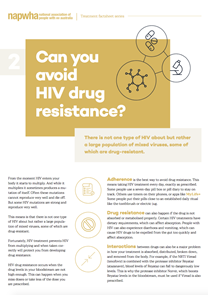 2 of 8 Treatment Factsheet – HIV drug resistance