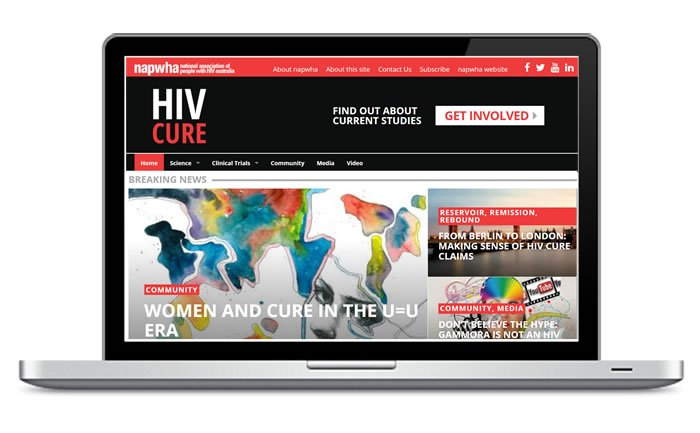 HIV Cure website screen grab
