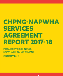 CHPNG-NAPWHA Services Agreement Report 2017-2018