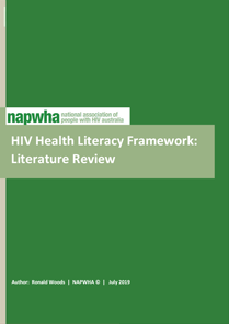 NAPWHA HIV Health Literacy Framework: Literature Review