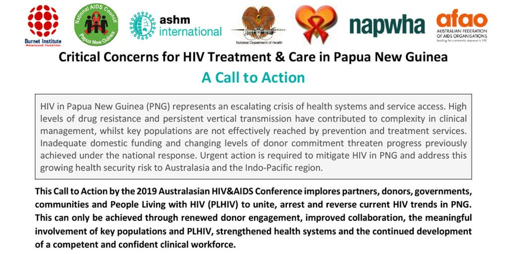 Critical Concerns for HIV Treatment and Care in Papua New Guinea