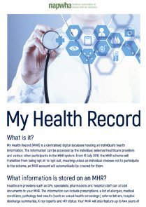 NAPWHA My Health Record  factsheet cover