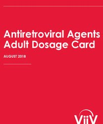 Antiretroviral Agents Adult Dosage Card