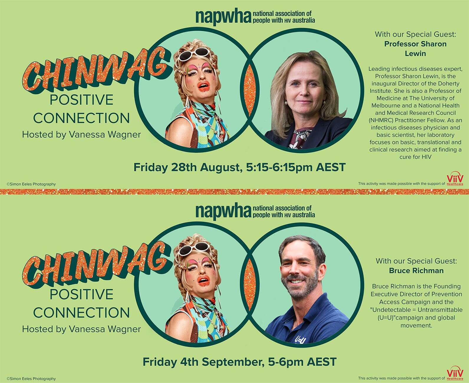 Professor Sharon Lewin and Bruce Richman join Chinwag: Positive Connection