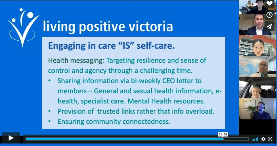 Living Positive Victoria presents at Continuity of Care Collaboration webinar