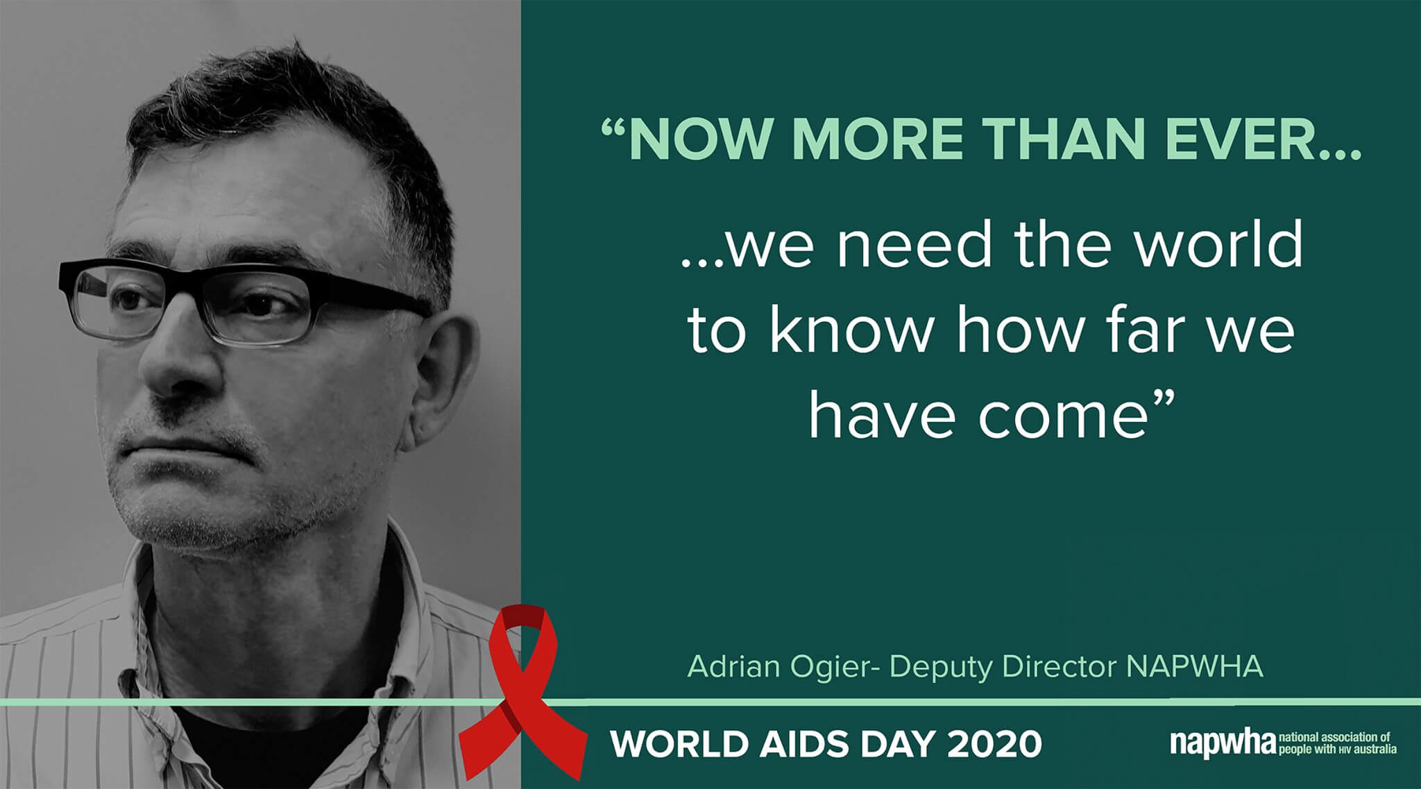 Adrian Ogier, NAPWHA Deputy Director provides a World AIDS Day 2020 message