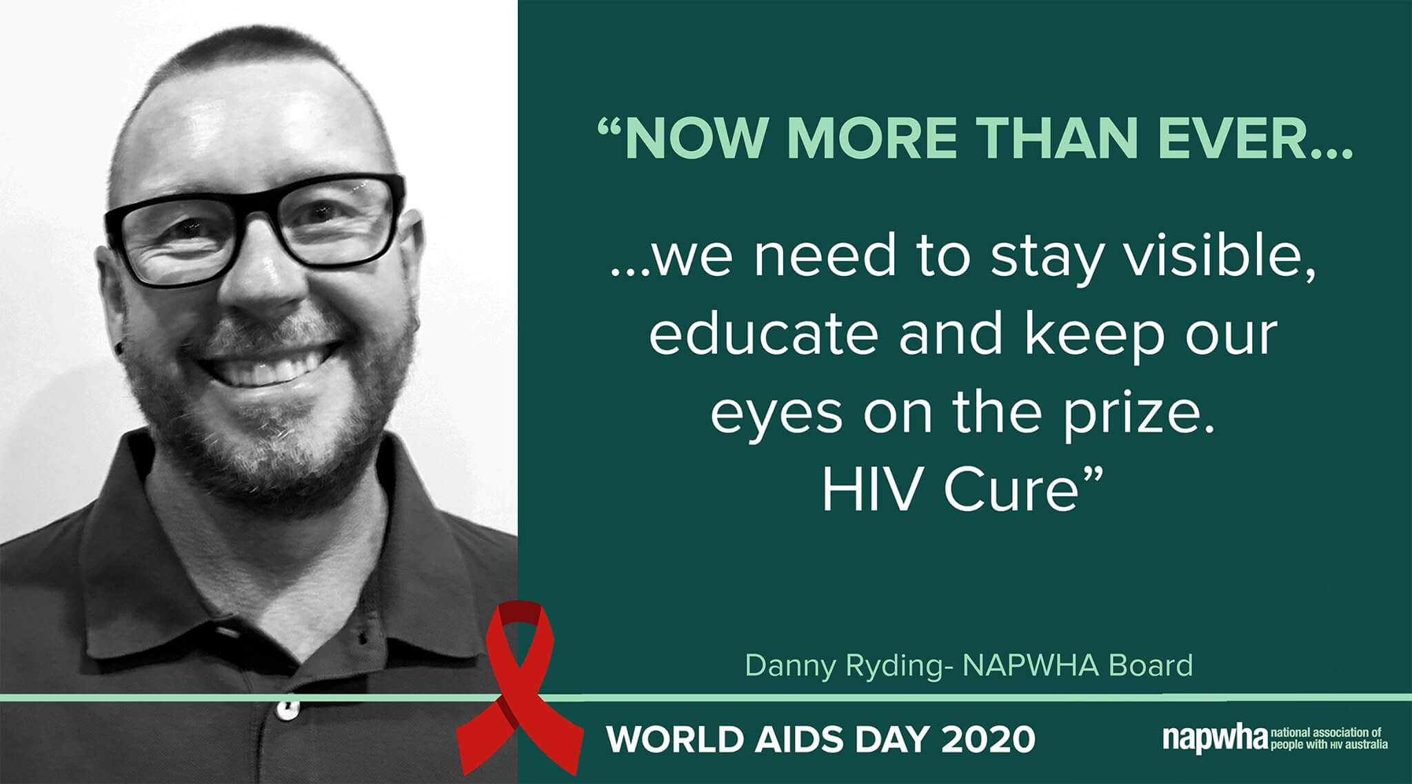 Danny Ryding of the NAPWHA Board provides a World AIDS Day 2020 message