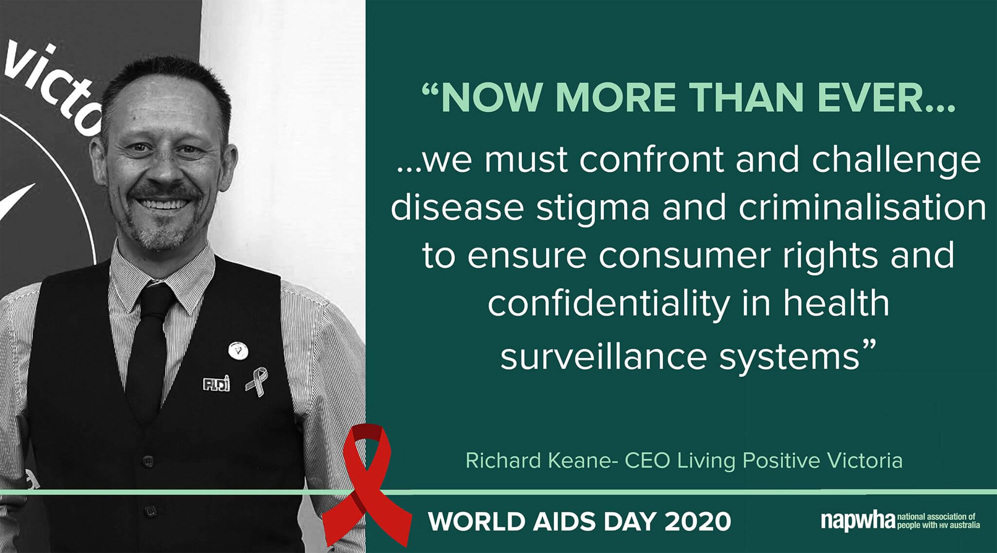 Richard Keane, CEO of Living Positive Victoria provides a World AIDS Day 2020 message