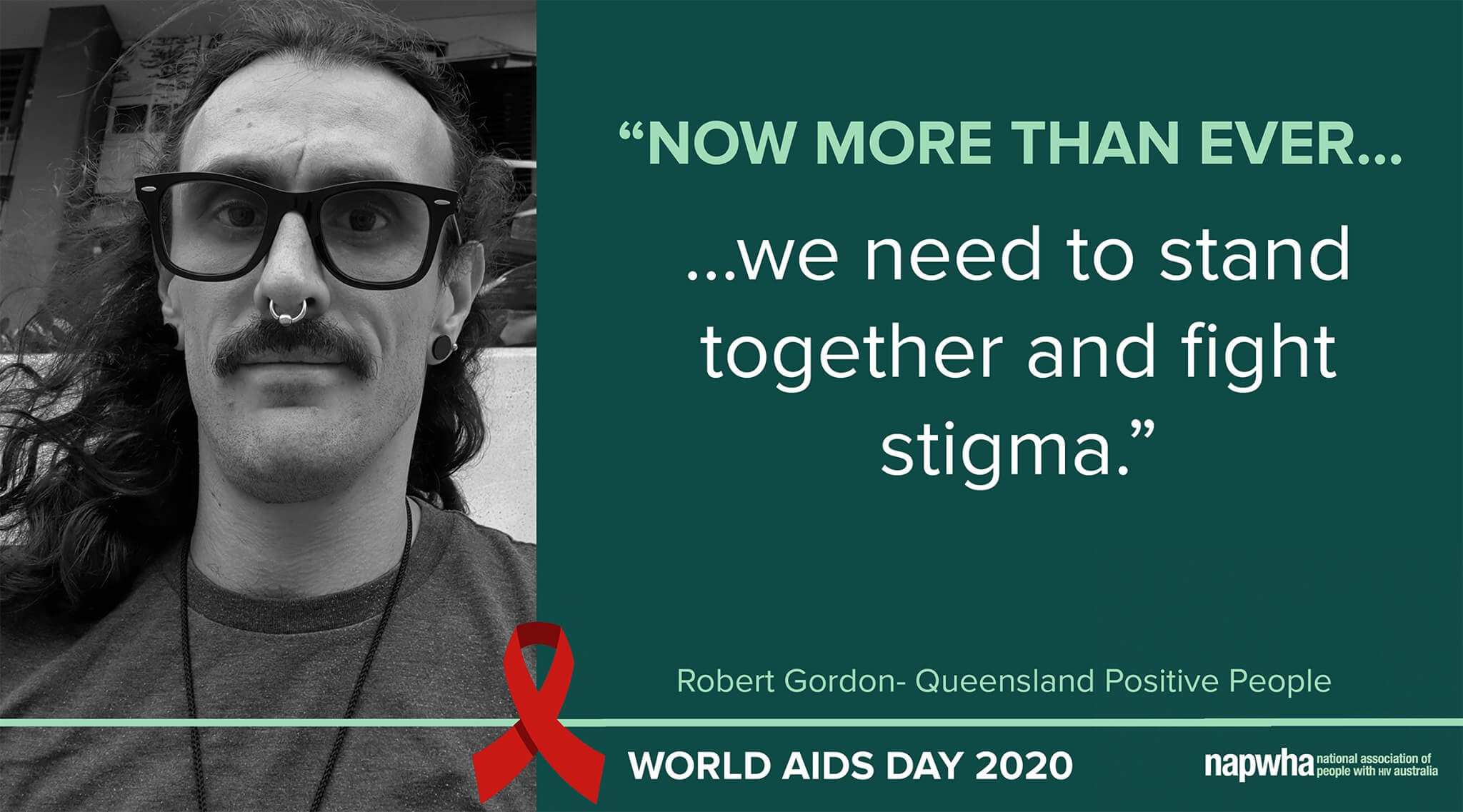 Robert Gordon of Queensland Positive People provides a World AIDS Day 2020 message