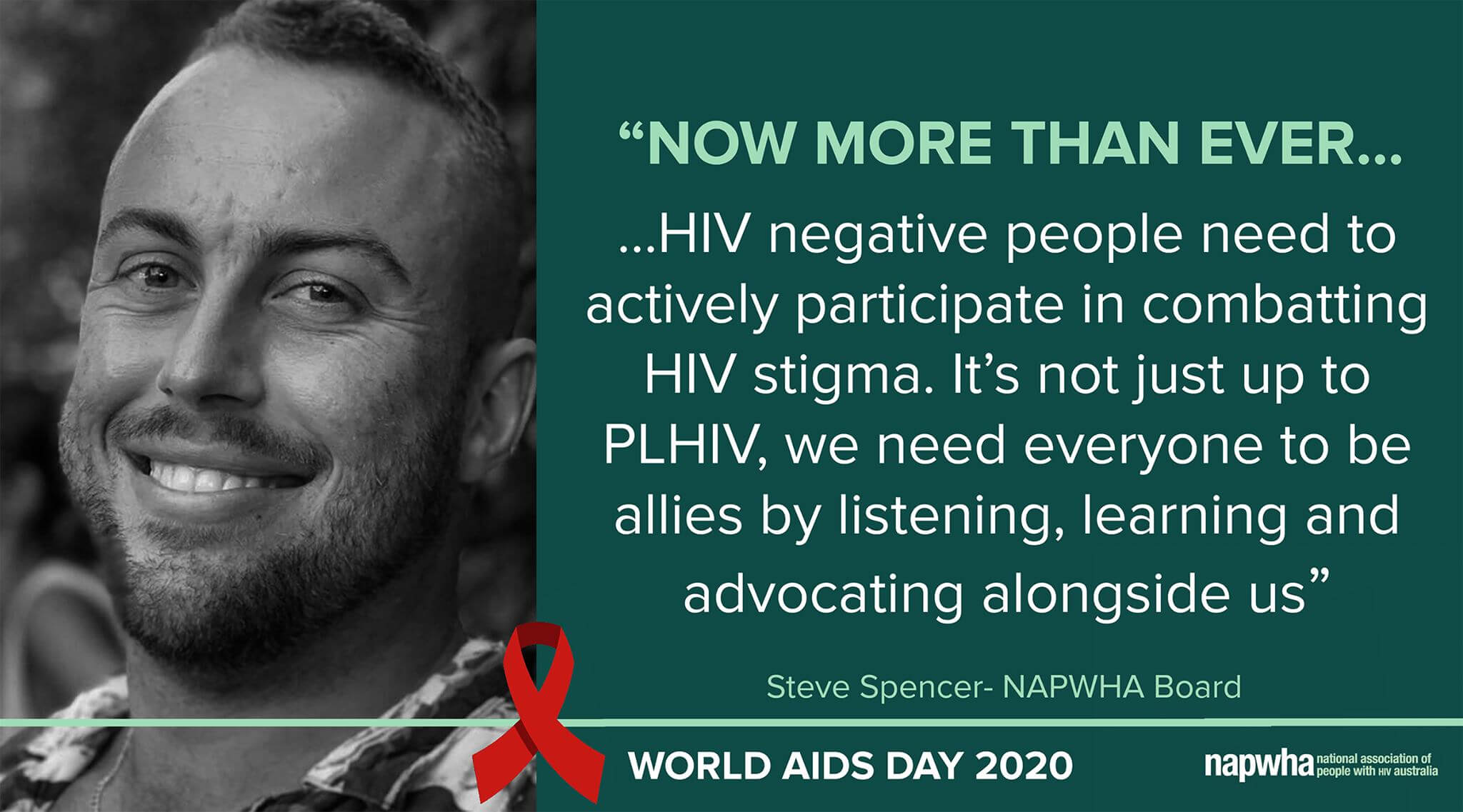 Steve Spencer, NAPWHA Board provides a World AIDS Day 2020 message