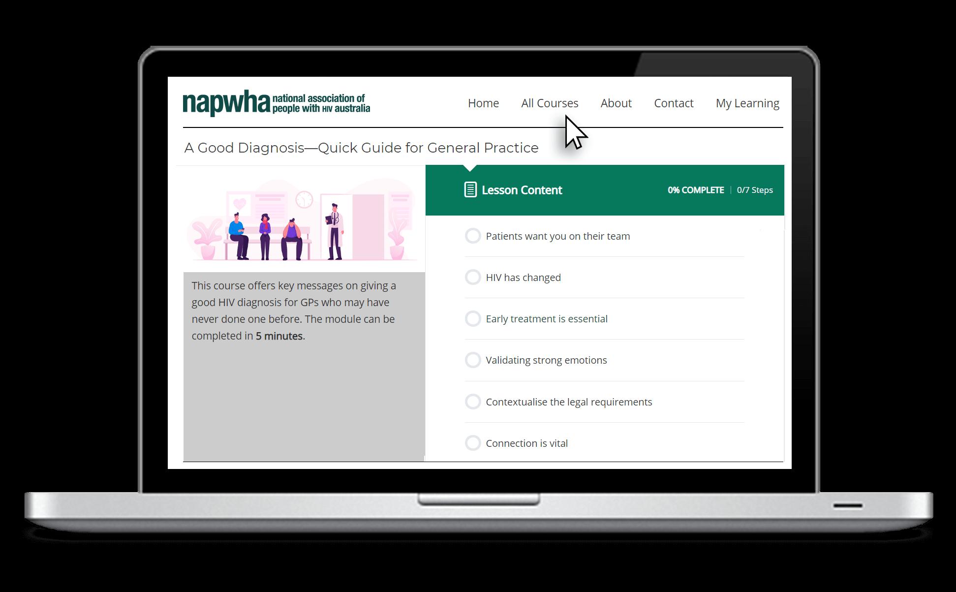 HIV Cure website screen grab