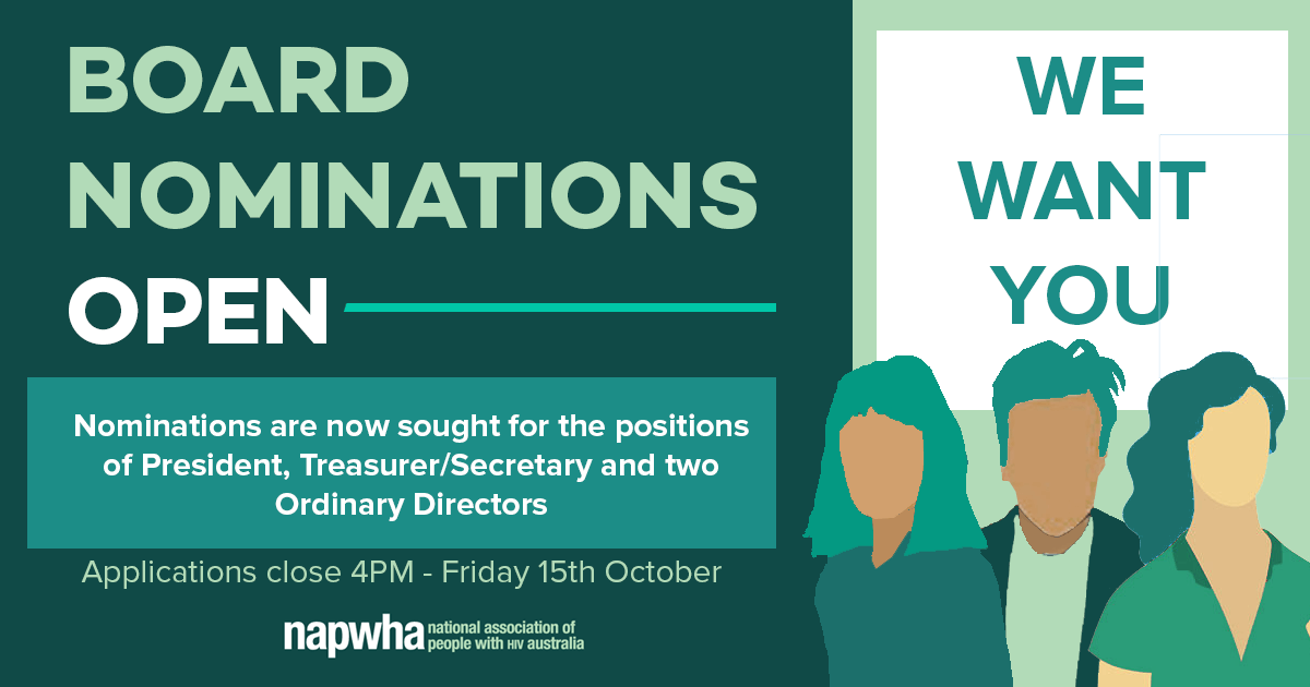 NAPWHA Board Nominations are now open banner